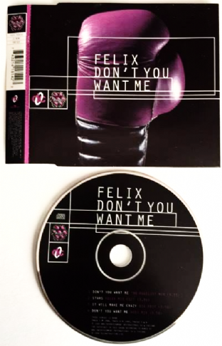 Felix ‎- Don't You Want Me (CD Single) (VG+/EX)